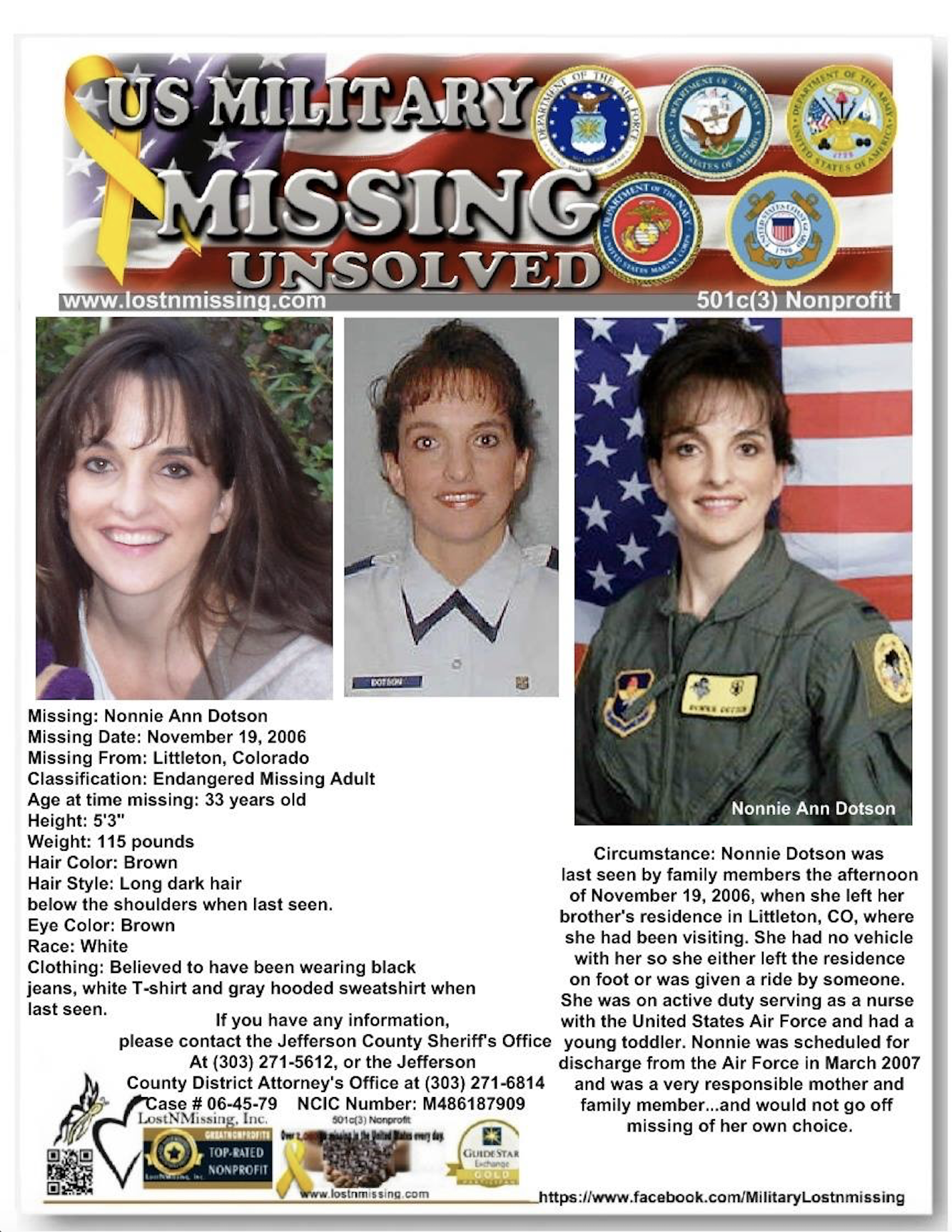 Nonnie Dotson CO Lostnmissing