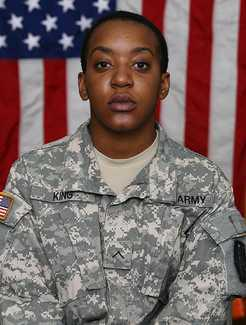 Pvt Janelle King, USArmy (2008)