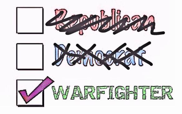 We are not a party, we are Warfighters