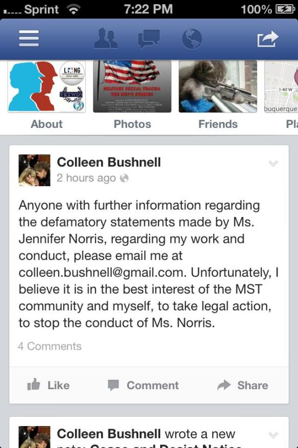 Colleen Bushnell Publicly Accuses Advocates of the Very Same Thing She Does