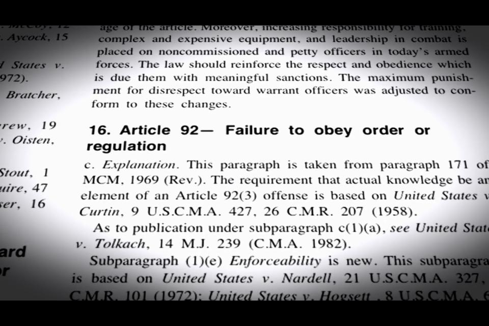 article 91 ucmj