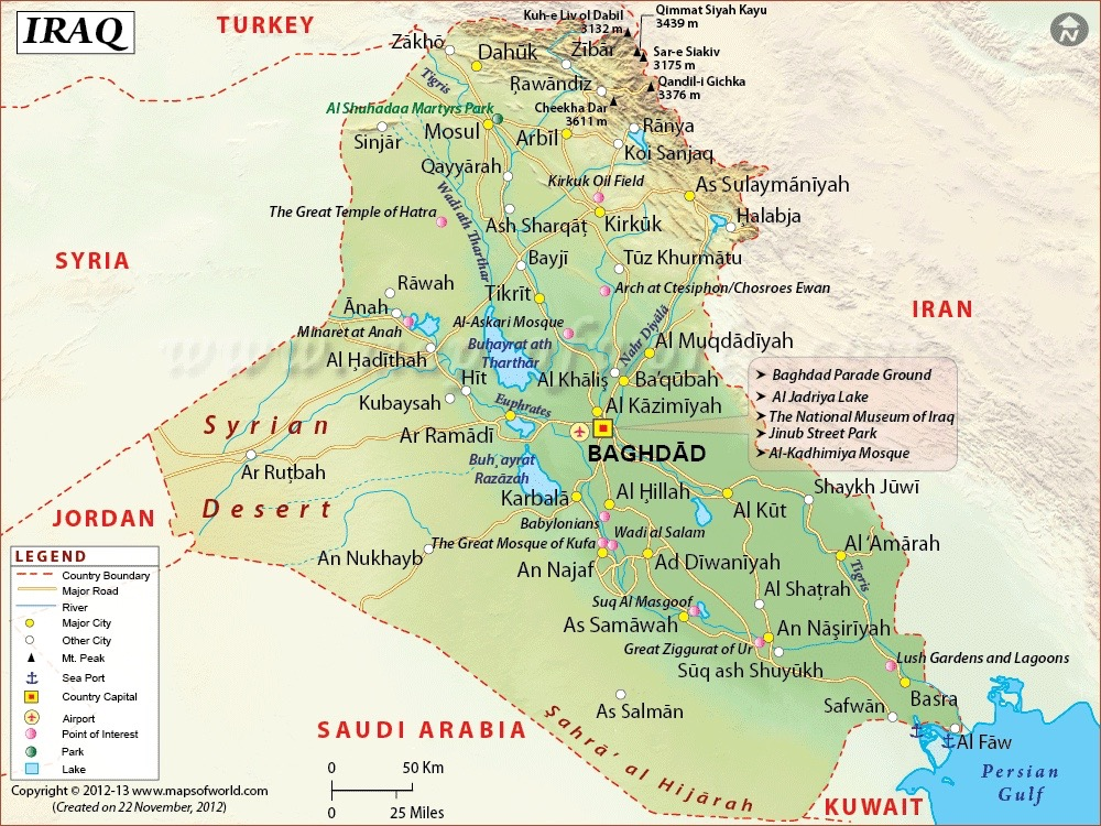Hazing MILITARY JUSTICE FOR ALL - Map of iraq us military bases