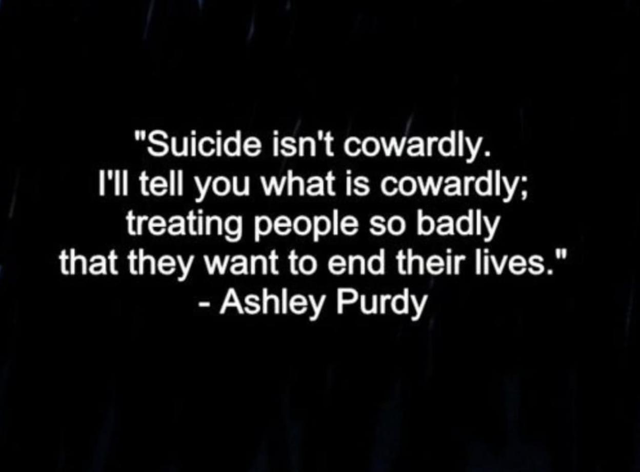 Suicide Cowardly