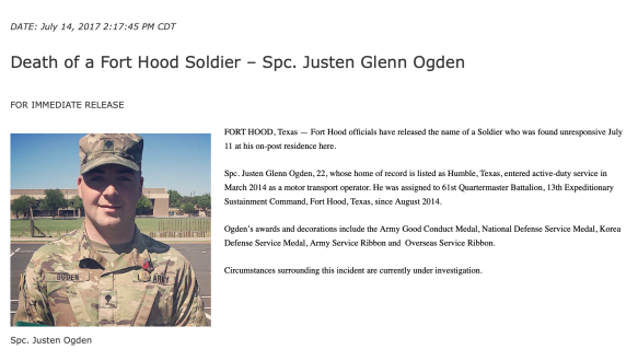 Justen Ogden FH Press Release
