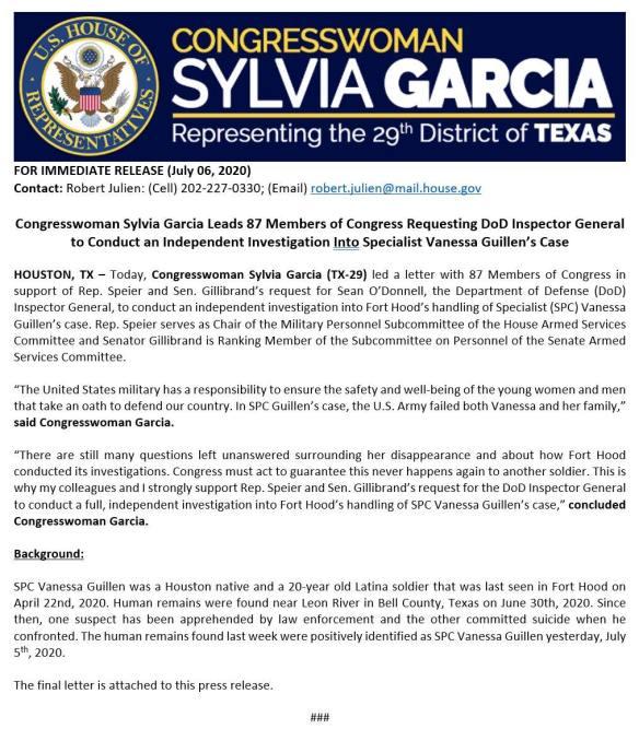 Rep Sylvia Garcia
