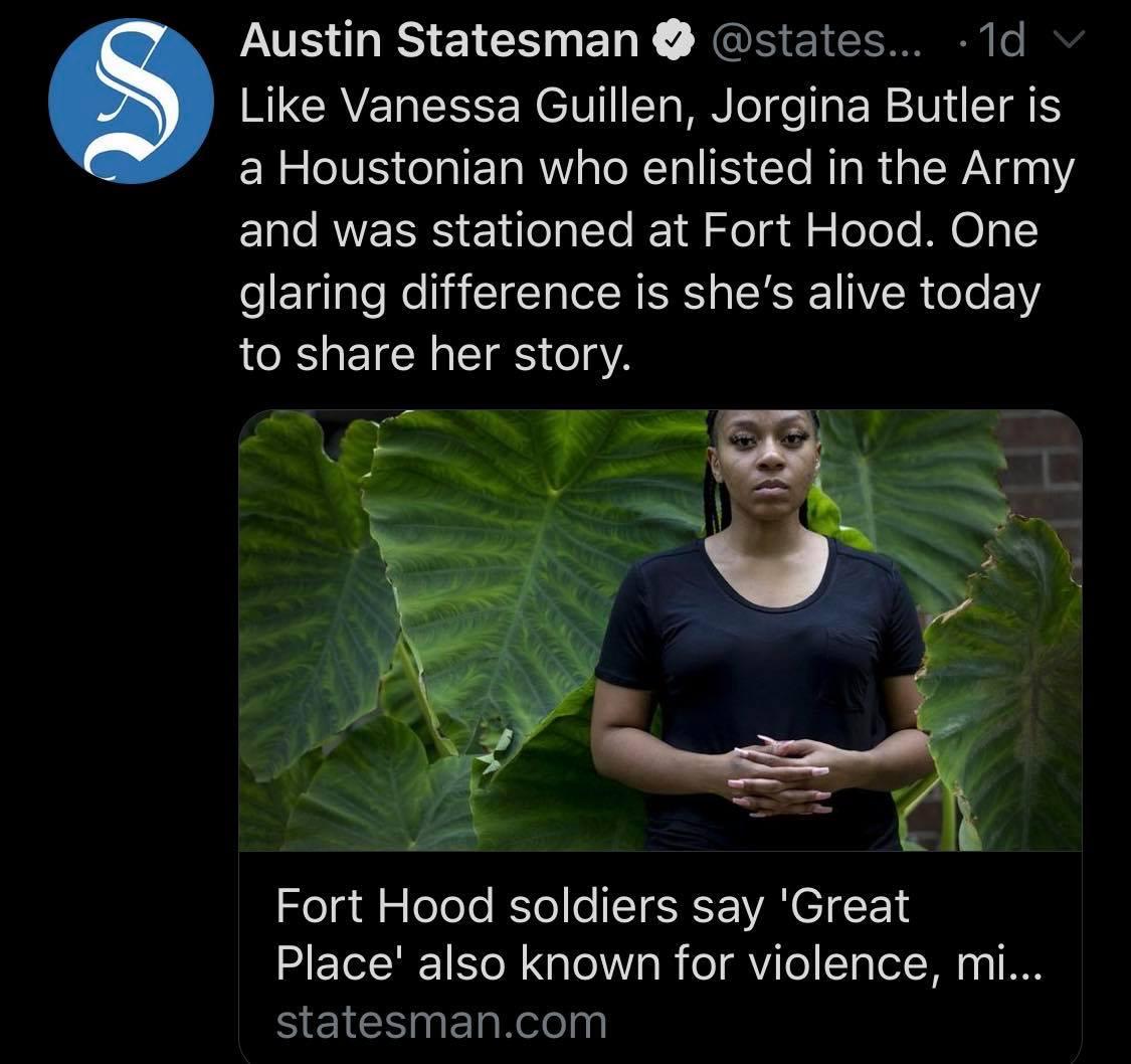 Statesman Tweet Fort Hood